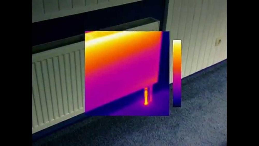 картинка с тепловизора батарея различить пол